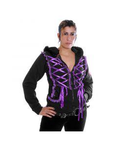 Visual Kay Style Hoodie Purple