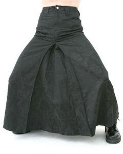 Men Skirt Brokat Black