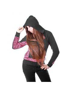 EMO Skull Punk Hoodie pink leo Visual Kei