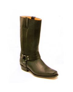Sancho Boots Bikerstiefel Pull Gras Black