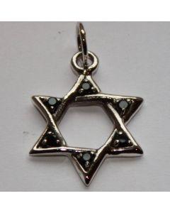 Hexagramm mit schwarzem Stein