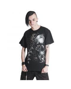 Gothic Tshirt Skull an Ketten