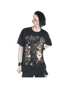 gothic t-shirt exploding Skull