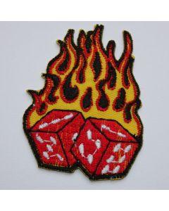 Aufnäher Burning Dice Rockabilly Patch