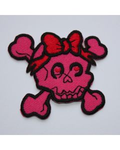 Aufnäher Pink Skully