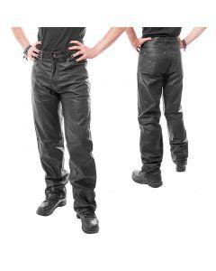 Lederhose  Jeansschnitt Lederjeans