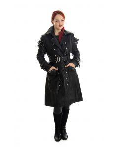 Damen Kurzmantel Leder