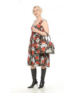 Petticoat Kleid Skulls and Roses black